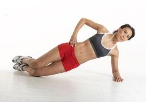 side plank on knees