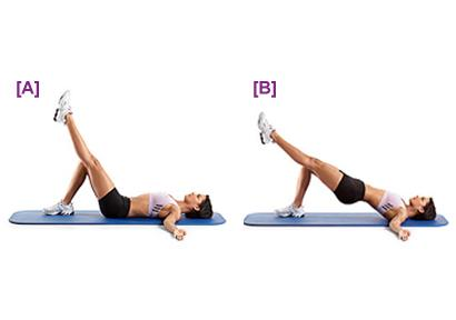 single leg hip bridge