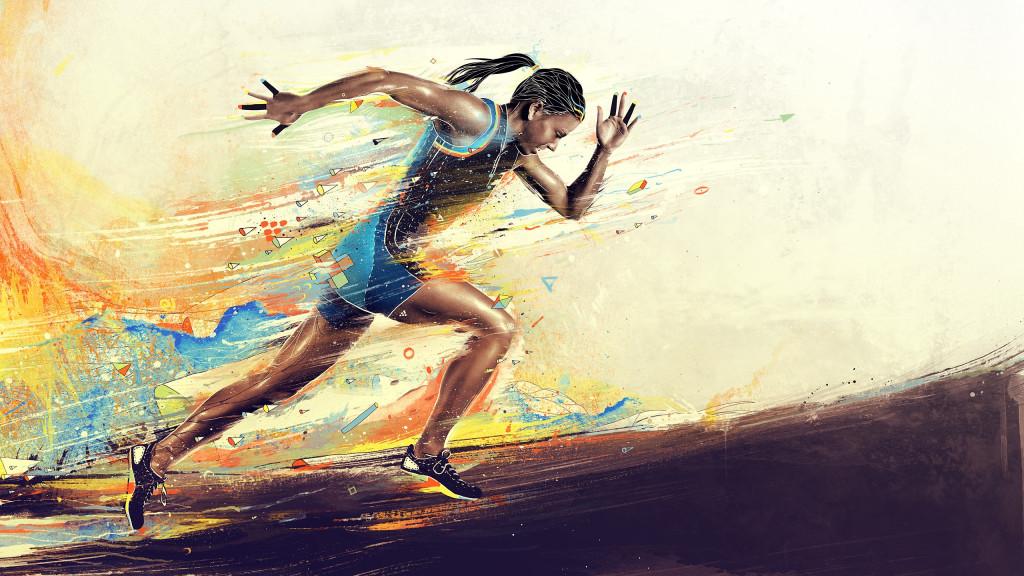 amazing-women-art-running-hd-wallpaper